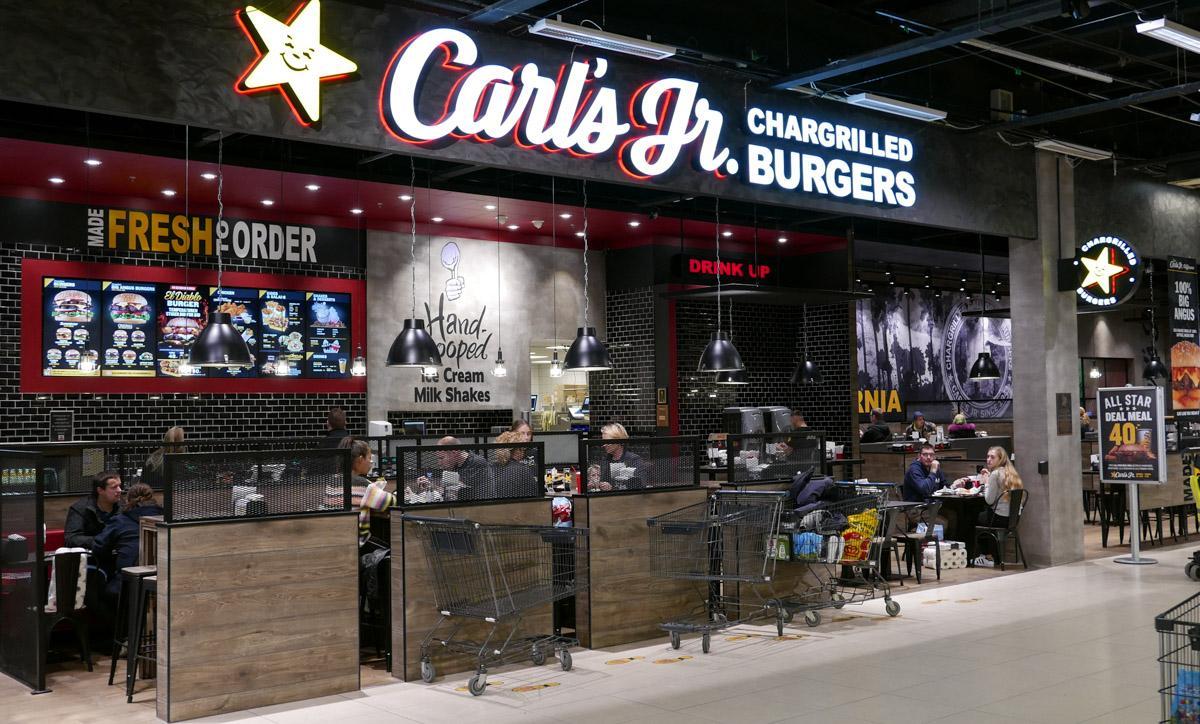 carls jr aalborg centralt midtby burger menu spis drik café restaurant dinnerlust 9000
