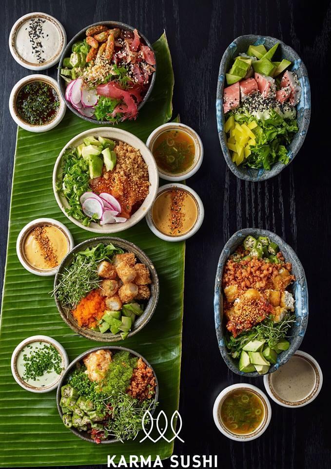 Karma Sushi frokost chirashi bowls
