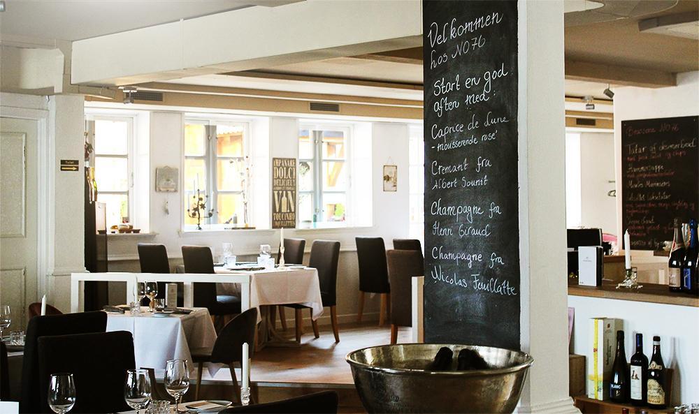 no76 brasserie restaurant moules frites dinnerlust menukort fisk skaldyr ved stranden gateau marcel