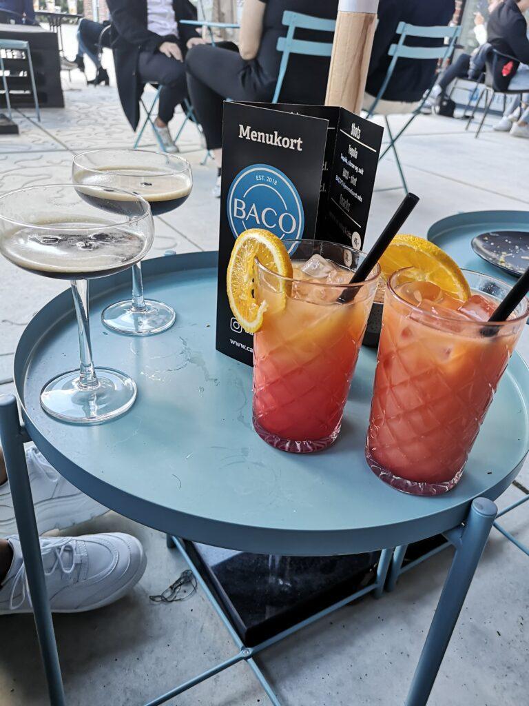 baco by night aalborg dinnerlust dinnerclub 9000 budolfi plads 20 centrum bagels kaffe cocktails drinks